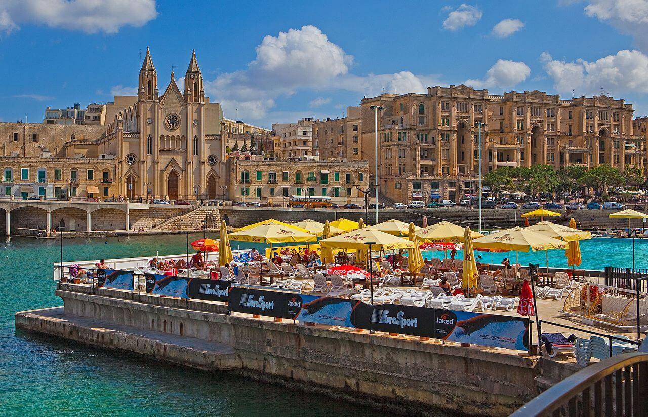 English course in Sliema, Malta